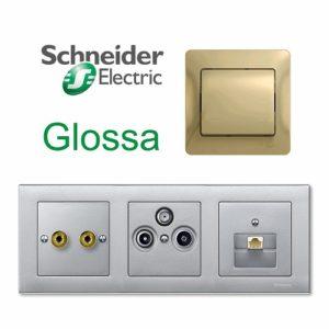 Розетки Schneider Electric Glossa